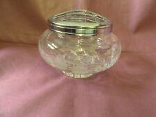 Beautiful Stuart Crystal Glass Rose Bowl 4.5 X 3.5 Inches fuchia Floral Cascade