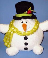 GUND ROLLY POLLY SNOWMAN BEEN GOOD FOR GOODNESS SAKE SO CUTE VGC
