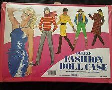 "Vintage Tara Toy Corp Deluxe Fashion Doll Case 17x12"" Vinyl Carry Storage Barbie"