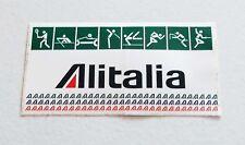 Adesivo ALITALIA SPORT Olimpiadi Sponsor PROMO sticker anni 80 - 17 cm aerei