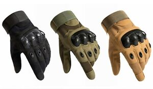 Microseven Army Combat Hunting Hiking Tactical Hard Knuckle Full Finger Gloves