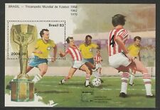 More details for brazil 29 july 1983 football world cup int stamp ex  miniature sheet mnh