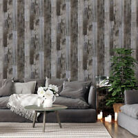 2 Rolls Wood Plank Self Adhesive Wallpaper Furniture Wall Stickers Bedroom Decor