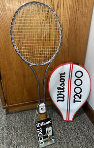 Vintage Steel Wilson Tennis T2000 Made In USA Racquet WITH TAG AND ORIGINAL CASE