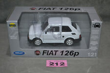 BNIB Welly Polski Fiat 126p White Large Diecast Model Scale 1:21 15cm Long Box
