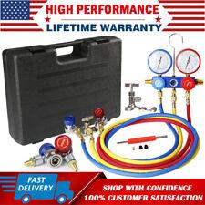 Hvac A/C Air Refrigeration Kit Ac Manifold Gauge Valve Set Brass R134A R410A R22