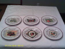 New listing A Williams Sonoma Harvest Market Set of Six Dessert Plates in Wooden Box
