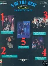 5 OF THE BEST FOR GUITAR-CLASSIC METAL W/TAB MUSIC BOOK METALLICA/VAN HALEN RARE