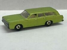 1960s Matchbox by lesney mercury station wagon with dogs in back green in color