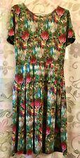 LulaRoe Amelia Dress Floral Watercolors XLarge New W/Tag