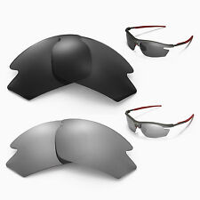 Walleva Polarized Titanium + Black Replacement Lenses For Rudy Project Rydon