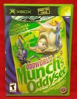 Oddworld Munch's Oddysee Org Microsoft Xbox Game Complete 1 Owner Near Mint Disc