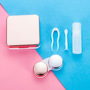 Mini Travel Contact Lens Case Box Container Holder Eye-Care Kit With Mirror - US