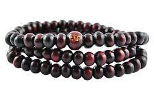 Mala Buddha Gebetskette, Rudraksha Hindu Tibet Sandelholz Perlen - rot (TG00018)