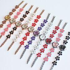 10pcs Wholesale Price Fashion Women Flowers Lady Bracelet Watch Wristwatch O31SM