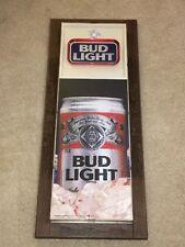 """Vintage 1988 Bud Light sign display Anheuser Busch bar budweiser 33"""" x 14"""" x 3"""""""