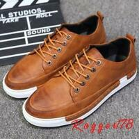 Mens Casual faux leather sneaker dress oxford Shoes plus size