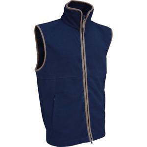 Jack Pyke Countryman Fleece Gilet Double Zip Front Nubuck leather Trim Waistcoat