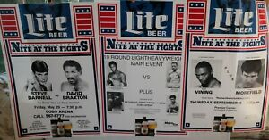 3 Diff Boxing Posters: 1980's Detroit, Dennis Andries,Braxton,Morefield,Hearns
