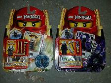 Lego NINJAGO Lot 2255 2256 Sensei Wu Garmadon SPINJAGO Minifigure GOLD Ninja NEW