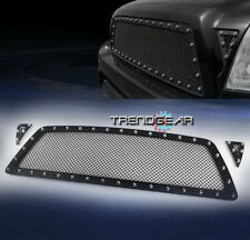 2005-2010 TOYOTA TACOMA FRONT UPPER RIVET STAINLESS STEEL MESH GRILLE BLACK 3PCS