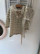 Spanish Nini Cardigan And Bonet Age 18 Months New With Out Tags