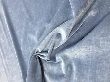 Pimlico Velvet Marine Blue Quality Upholstery Fabric Fire Retardant  553