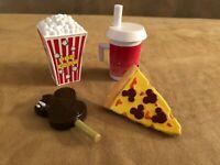 Snack popcorn pretzel pizza drink ice cream Disney World Mr Potato Head lot food