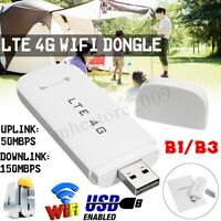 4G LTE WIFI Router Car Wireless USB Dongle Mobile Broadband Modem SIM Card
