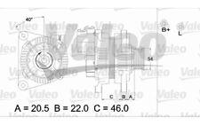 VALEO Alternador para CITROEN XSARA BERLINGO PEUGEOT 206 VW FIAT SCUDO 437171