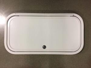 """RV Baggage Door 24"""" x 12"""" Motorhome Trailer Compartment Access Door Camper"""