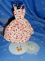 BARBIE VINTAGE ORIGINAL DARLING SUN DRESS,HAT&SHOES-EXCELLENT-TINY KITTY,CISS