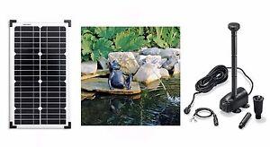 20 W Solar Tauch Pumpe Wasserspeier Teich Gartenteich Pumpe Frosch Figur Garten