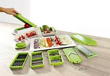 Premium Fruit Vegetable Slicer Nicer Dicer Plus Food Chopper Cutter Peeler 12in1