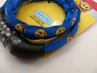 BLUE Schwinn Smiley Face Emojis Combination Symbols Bicycle Lock 6mm Steel Cable