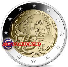 2 Euro Commémorative France 2021 - 75 Ans de l'Unicef UNC NEUVE
