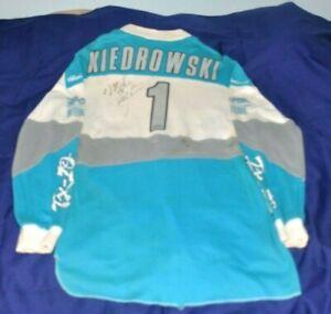 "VINTAGE SIGNED 1990 MIKE KIEDROWSKI "" MX KIED"" TEAM HONDA RACE WORN JERSEY"