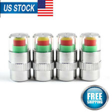 4pcs Tire Air Pressure Tester Sensor Gauge Car Auto Valve Stem Cap Checker Alert