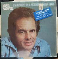 Merle Haggard I'm Always on a Mountain When I Fall LP MCA 2375 NM Vinyl HYPE