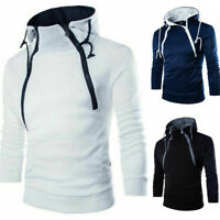 Sweatshirt Coat Sweater Fit Hoodies Outwear Winter Jacket Slim Hooded Men's Warm