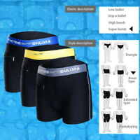 Men Male Swim Shorts Beach Swimwear Swimming Trunks Underwear Boxer Briefs Pants