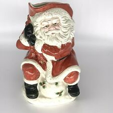 Vintage Fitz and Floyd Santa Claus Figural Pitcher Christmas 1988 2 Qt 9x7""