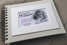 Personalised LUSSO Scrapbook Foto Album Guestbook 25th regalo di compleanno