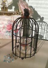 Photosphore ou bougeoir fer forgé cage à oiseaux  noir