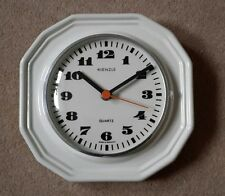Vintage Kienzle Retro Style Cream Pottery Kitchen Wall Clock made in Germany