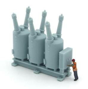 HO Scale Oil Circuit Breaker Electric Substation Blue