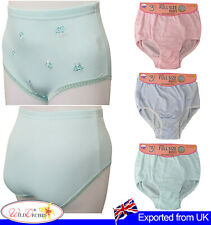 Womens Full Size Briefs Underwear Panties Embroidery all Floral Knickers 12 Pack