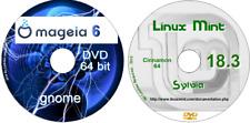 Linux Mint 18.13 Canela & Mageia 6 GNOME 64 Bit 2 Discos 2 sistema operativo completo