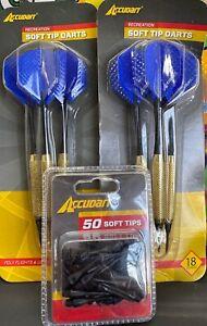 NEW Accudart Soft Dart Tips & 2 Pkg Darts NIP AND FREE SHIPPING