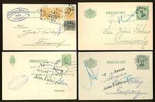 Sweden AE31 Postal Stationery cards 1916-19 Service cancel (4 pcs)